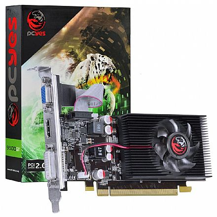 GeForce 9500GT 1GB GDDR3 128bits - Low Profile - PCYes PS9500GT12801D3