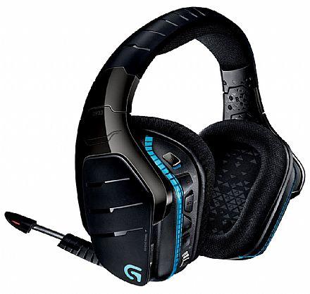 Headset Gamer Sem Fio Logitech G933 Artemis Spectrum - 7.1 Dolby® Surround Drivers Pro-G™ - LED RGB Lightsync - Conector 3.5mm e USB - Preto - 981-000598
