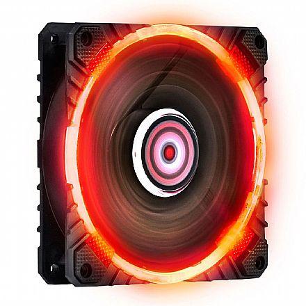 Cooler 120x120mm PCYes Calafrio - LED Vermelho - FCAL120LDVM