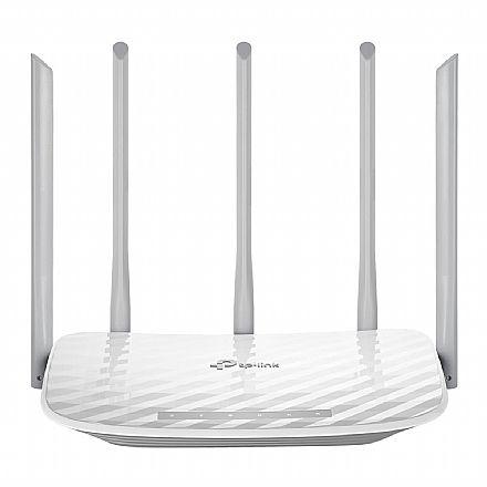 Roteador Wi-Fi TP-Link Archer C60 AC1350 - Versão 2.0 - Tecnologia Beamforming MIMO - Dual Band 2.4GHz e 5GHz - 5 Antenas