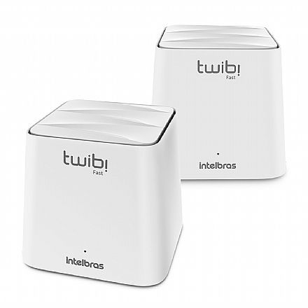 Roteador Wi-Fi Intelbras Twibi Fast AC1200 - Tecnologia Mesh - Dual Band 2.4 GHz e 5 GHz - Conjunto