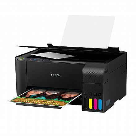 Multifuncional Epson EcoTank L3110 com Tanque de Tinta - USB - Impressora, Copiadora e Scanner - C11CG87302