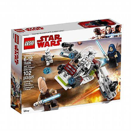 LEGO Star Wars - Conjunto de Combate Jedi e Clone Troopers - 75206