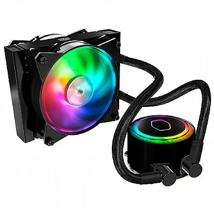 Water Cooler Cooler Master MasterLiquid ML120R - (AMD / Intel) - com LED RGB - MLX-D12M-A20PC-R1