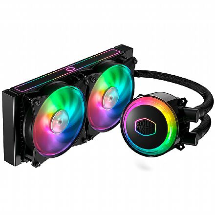 Water Cooler Cooler Master MasterLiquid ML240RS - (AMD / Intel) - com LED RGB - MLX-S24M-A20PC-R1