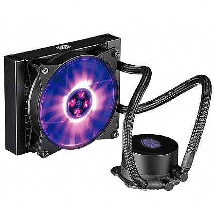 Water Cooler Cooler Master MasterLiquid ML120L - (AMD / Intel) - com LED RGB - MLW-D12M-A20PC-R1