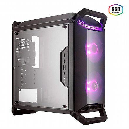Gabinete Cooler Master MasterBox Q300P - Janela Lateral em Acrílico - com Controlador RGB - Painel Modular - Cooler RGB - MCB-Q300P-KANN-S0