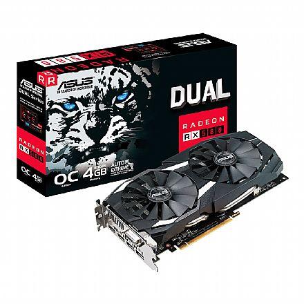 AMD Radeon RX 580 4GB GDDR5 256bits - Dual Series - OC Edition - Asus 90YV0AQ0-M0NA00