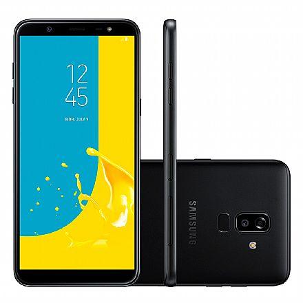 """Smartphone Samsung Galaxy J8 - Tela 6"""" Super AMOLED, 64GB, Dual Chip 4G, Câmera Dupla 16MP + 5MP, Leitor de Digital - Preto - J810M"""