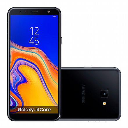 "Smartphone Samsung Galaxy J4 Core - Tela 6"" HD+, 16GB, Dual Chip 4G, Câmera 8MP - Preto - SM-J410G"