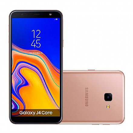 "Smartphone Samsung Galaxy J4 Core - Tela 6"" HD+, 16GB, Dual Chip 4G, Câmera 8MP - Cobre - SM-J410G"