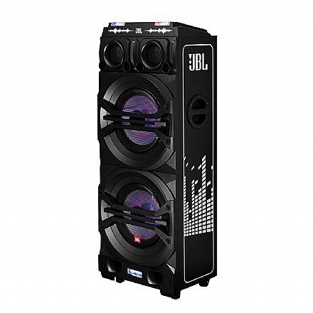 Caixa Amplificada JBL DJ XPERT J2515 - Bluetooth e USB - 400W RMS - Entrada para 2 Microfones - com Efeitos LED