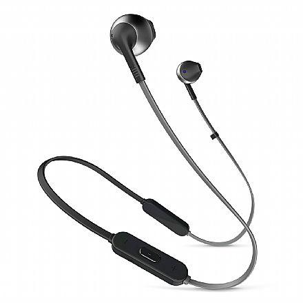 Fone de Ouvido Bluetooth Auricular JBL T205 BT - com Microfone - Preto - JBLT205BTBLK