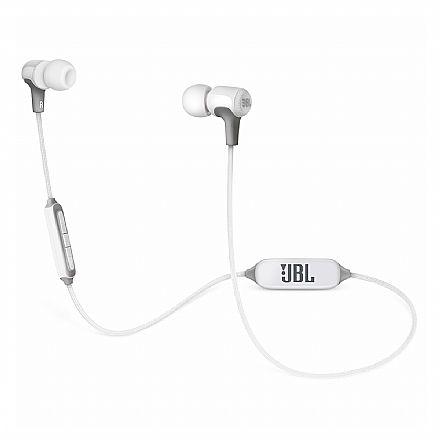 Fone de Ouvido Bluetooth Intra-Auricular JBL E25 BT - Cabo em Tecido - Branco - JBLE25BTWHT