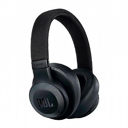 Fone de Ouvido Bluetooth JBL E65 BT - Cancelamento de Ruídos - com Microfone - Conector 3.5mm - Preto - JBLE65BTNCBLK