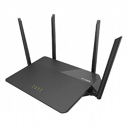 Roteador Wi-Fi D-Link DIR-878 AC1900 - Dual Band 2.4 GHz e 5 GHz - Gigabit - Tecnologia MU-MIMO - 4 Antenas de 5dBi - Alta potência 1000mW