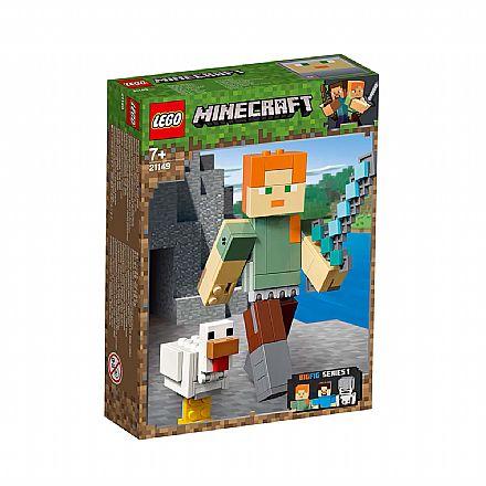 LEGO Minecraft BigFig - Grande Alex com a Galinha - 21149