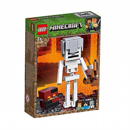 LEGO Minecraft BigFig - Grande Esqueleto com o Cubo Magma - 21150