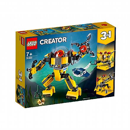 LEGO Creator - Modelo 3 em 1: Exploração Subaquática - 31090