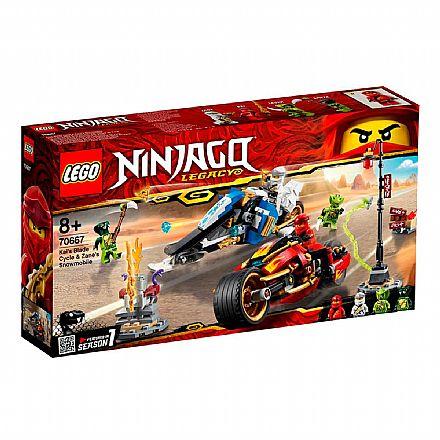 LEGO Ninjago - A Motocicleta de Espadas de Kai e o Jet Ski de Neve de Zane - 70667