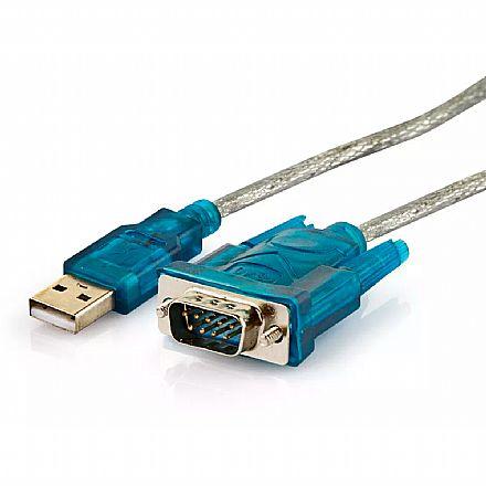 Cabo Conversor USB para Serial DB9 (RS232) - 80 cm