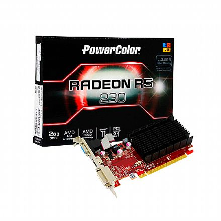 AMD Radeon R5 230 2GB 64bits - Power Color AXR5 230 2GBK3-HE