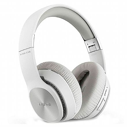 Fone de Ouvido Bluetooth Edifier W820BT - com Microfone Embutido e Conector P2 - Branco