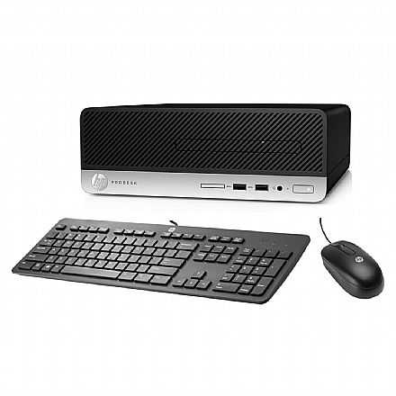 Computador HP ProDesk 400 G5 - Intel Core i3-8100, 4GB, HD 500GB + SSD 240GB, Windows 10 Pro, Kit Teclado e Mouse - 5LA53LA