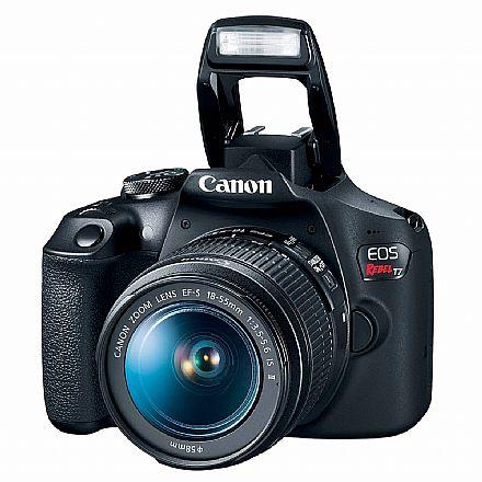 Canon EOS Rebel T7 Profissional com Lente 18-55 - 24.1 Mega Pixels - Sensor CMOS APS-C - DIG!C 4+ - Wi-Fi e NFC - Vídeo Full HD
