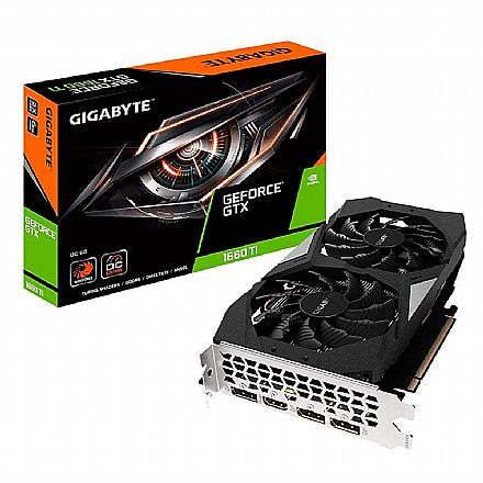 GeForce GTX 1660 Ti 6GB GDDR6 192bits - Windforce OC Edition - Gigabyte GV-N166TOC-6GD