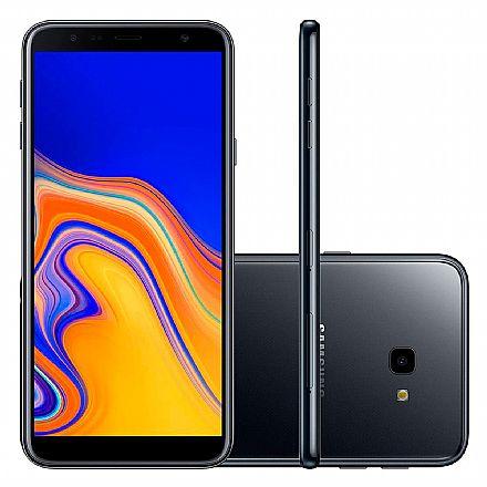 "Smartphone Samsung Galaxy J4+ - Tela 6"" HD+ Infinita, 32GB, Dual Chip 4G, Câmera 13MP - Preto - SM-J415G"