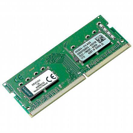 Memória SODIMM 4GB DDR4 2400MHz Kingston - para Notebook - KVR24S17S6/4