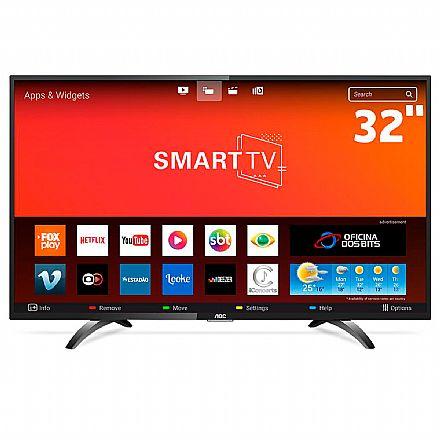"""TV 32"""" AOC LE32S5970S - Smart TV - HD - Função Multimídia USB - Wi-Fi Integrado - HDMI"""
