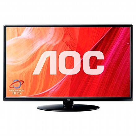 "Monitor TV 24"" AOC LE24M1475 - HD - Função Multimídia USB - HDMI/VGA - Conversor Digital Integrado"