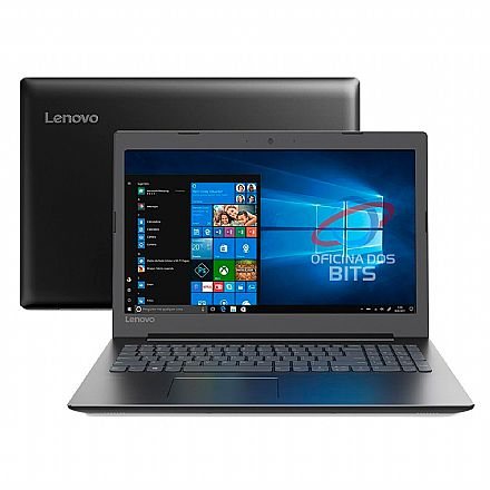 "Notebook Lenovo Ideapad B330 - Tela 15.6"" HD, Intel i3 7020U, 4GB, HD 500GB, Windows 10 Pro - 81M10000BR"