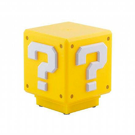 Luminária Nintendo Super Mario Bros - Mini Question Block - com Som - Paladone PP3428NNTX