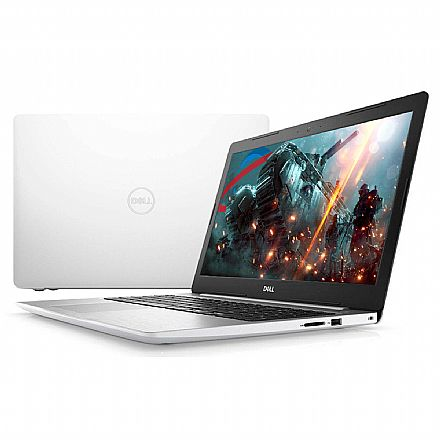 "Dell Inspiron i15-5570-R30B - Tela 15.6"" Full HD, Intel i7 8550U, 8GB, SSD 480GB, Video Radeon 530 4GB, Windows 10 - Branco - Garantia 1 ano - Seminovo"
