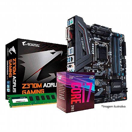 Kit Intel® Core™ i7 8700 + Gigabyte Z370M AORUS GAMING + Memória 8GB DDR4