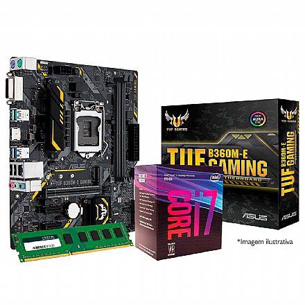 Kit Intel® Core™ i7 8700 + Asus TUF B360M-E GAMING + Memória 16GB DDR4