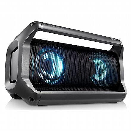 Caixa de Som Portátil LG XBOOM Go PK5 - Bluetooth - 20W RMS - com Viva Voz integrado - Resistente à Água - com Efeitos LED