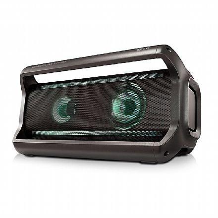 Caixa de Som Portátil LG XBOOM Go PK7 - Bluetooth - 40W RMS - com Viva Voz integrado - Resistente à Água - com Efeitos LED