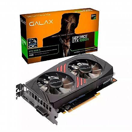 GeForce GTX 1050 Ti 4GB GDDR5 128bits - 1-Click OC Edition - Galax 50IQH8DSC7CB