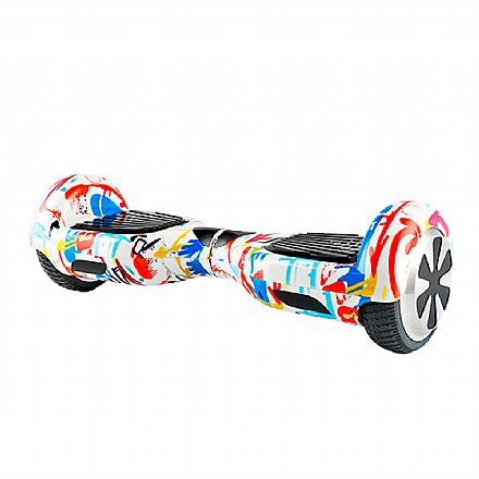"Hoverboard 6.5"" Mymax Scooter Smart Balance - Bateria Original Samsung - Suporta até 100Kg - Colorful"