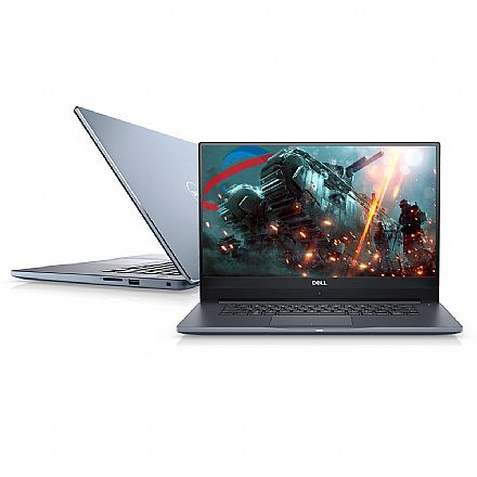 "Dell Inspiron i15-7572-A30B Ultrafino - Tela 15.6"" Full HD Infinita, Intel i7 8550U, 16GB, HD 1TB + SSD 128GB, GeForce MX150 4GB, Windows 10 - Cinza Marine - Outlet"