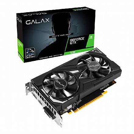 GeForce GTX 1650 4GB DDR5 128bits - 1-Click OC - Galax 65SQH8DS08EX