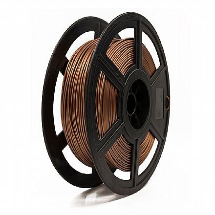Filamento para Impressora 3D FFF - PLA Metálico - Cobre - 0,5Kg - 1,75mm - Flashforge
