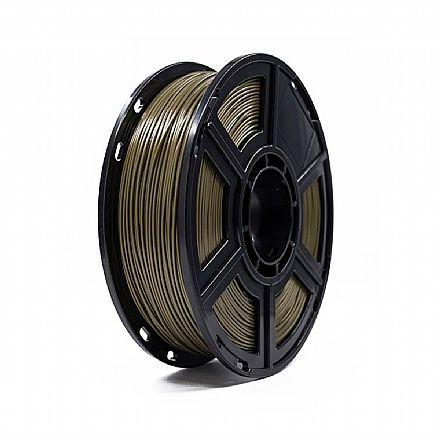 Filamento para Impressora 3D FFF - PLA Ouro - 0,5Kg - 1,75mm - Flashforge