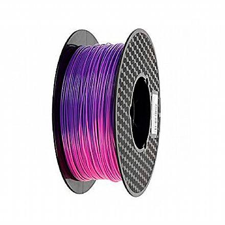 Filamento para Impressora 3D FFF - PLA Termocrômico - Roxo para Rosa - 0,5Kg - 1,75mm - Flashforge