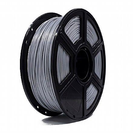 Filamento para Impressora 3D FFF - PLA Perolado Prata - 0,5Kg - 1,75mm - Flashforge