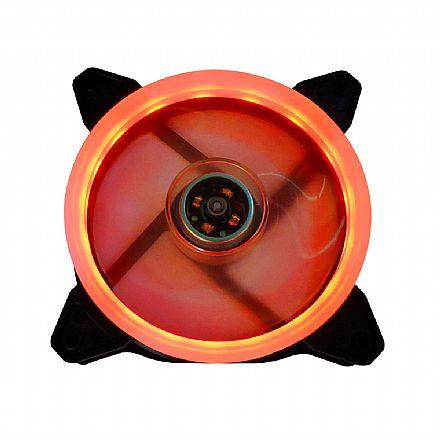 Cooler 120x120mm BPC - LED Duplo Vermelho - BPC-DL12-RED